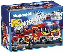 Playmobil 5362 4825 Fire Truck Ladder Unit with Lights, Sound and Extra Hoses