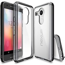 Ringke Fusion Slim Hard Clear View Back Dust Cap Cover For LG Nexus 5X Case