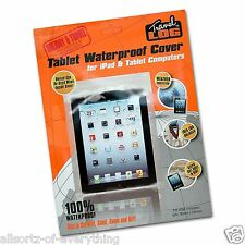 100% Waterproof Cover for Tablet iPad Kindle Travel Holiday Rain Protection