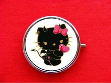 HELLO DEVIL KITTY CAT 2 ROUND METAL PILL MINT BOX CASE