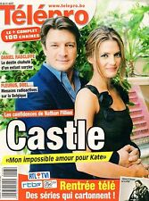 french magazine Télépro N°3051 nathan fillion castle 2012
