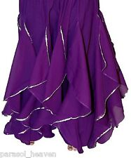 PURPLE ENDLESS WAVE HAREM PANTS, CHIFFON & SEQUINS for BELLY DANCE, From  INDIA