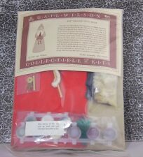 Gail Wilson 1990 Vtg Painted Cloth Santa Doll Collectible Kit Folkart Christmas