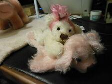 "Annette Funicello ""Layla"" Mohair bear with mohair bear rug"
