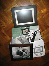 "NEW Digital PHOTO FRAME 8"" LCD PAN812-B Black Wood Color Frames PANDIGITAL 116"