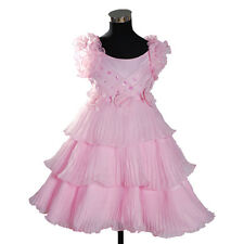 New Bridesmaid  Flower Girl Party Dress in White Yellow Cream Pink 2-5 Years