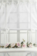 ROSE QUEEN Raffrollo Raffgardine 100x120cm weiss FRANSKE romantisch Shabby CHIC