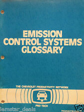 Pro Tech Direct Emission Control System Glossary GM  Chevrolet  Training  1986