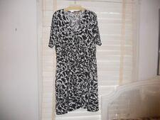 NWT Chico's ~ Art to Wear ~ Smokey Gray Animal Print Wrap Dress ~ 3 L/XL