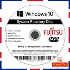 Fujitsu Windows 10 Home Professional Recovery Repair Install Boot Disc Software