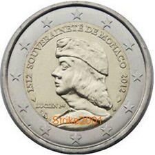 2 EURO COMMEMORATIVO FDC MONACO 2012 Lucien 1er Grimaldi