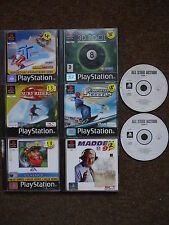 7 RACING/SPORTS GAMES PS1 PS2 PS3 Surf/Snow/Madden/Pool/Golf *Manuals Included*