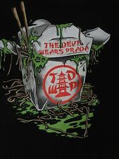 DEVIL WEARS PRADA SLIMY CHINESE TAKEOUT - XL BLACK T-SHIRT E2607