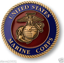 "NEW USMC U.S. Marine Corps Adhesive Medallion 1 3/4"". 60778."