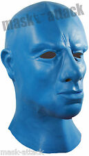 LATEX RUBBER FULL HEAD THICK HOOD THE BLUE MAN GIMP MEN MASK FANCY FETISH DRESS