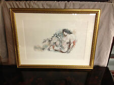 Vtg Mid Cent. Siegfried Reinhardt Lithograph Print After Painting of Nude Woman