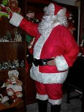 COMPLETE SANTA SUIT HALLOWEEN COSTUME with WIG & BEARD (F)