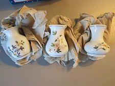 3 Mini-Vasen Porzellan, handbemalt
