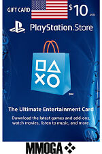 PlayStation Network $10 USD Key - 10 Dollar PSN US Store Card PS 4/3/Vita - USA