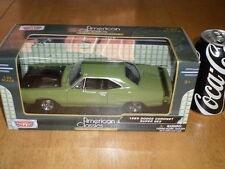 1969 DODGE CORONET SUPER BEE CAR - GREEN, DIE CAST METAL FACTORY BUILT TOY, 1:24