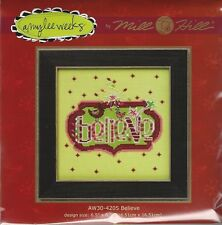 Christmas Believe Cross Stitch Glass Bead Kit by Mill Hill