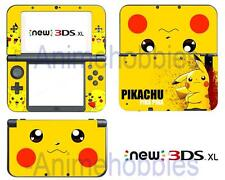 Anime Pokemon Pikachu Cute Vinyl Skin Sticker Decal for Nintendo New 3DS XL 2015