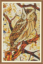 Art deco SG Owl CROSS STITCH CHART 12.0 x 7.7Inches