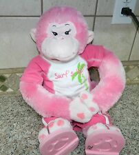 BUILD A BEAR Pink HEARTS Plush Monkey* Velcro Hands* FULL OUTFIT Sandals