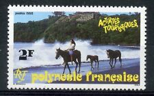 STAMP / TIMBRE DE POLYNESIE FRANCAISE N° 400 ** PROMENADE A CHEVAL SUR LA PLAGE