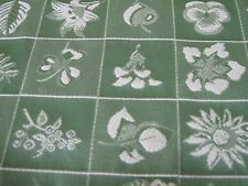"""Kravet fabric 7 yards 56 """" wide brocade green and of white,price cut"""