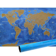 World Map Poster Scratch Off with Tube Packaging and Ocean Background 81.5*57CM