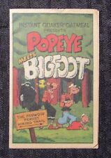 1989 POPEYE Meets Bigfoot Mini-Comic PROMO Quaker Oatmeal VF-