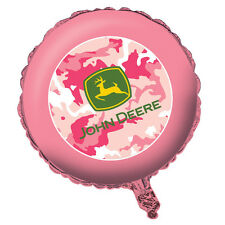 John Deere Pink Camo Foil Balloon, Birthday Party & Baby Shower Decor -1 Mylar