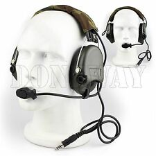 Tactical MSA SORDIN Style Noise Cancellation Radio Headset For Airsoft Paintball