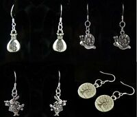 Lady 4 Pair Charm Fashion Jewelry Silver Mix Style Stud Earrings Free Shipping
