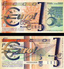 EUROPA - Europe 3 euro Test Note 1997 Fiesole & Pontassieve FDS - UNC