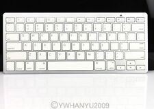 White Wireless Bluetooth Keyboard Slim Fit Apple System iPad Laptop PC