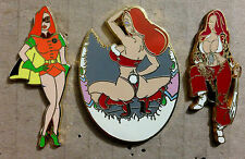 JESSICA RABBIT SEXY LINGERIE BUNNY MODEL + BATMAN'S ROBIN & PIRATE GIRL PINS LE