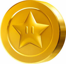 Framed Print - Mirrored Mario Golden Coin (Picture Poster Emoji Gaming Clipart)