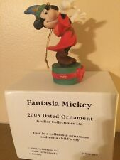 Grolier Collectibles Disney Fantasia Mickey 2003 Porcelain Ornament NEW