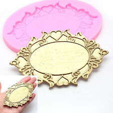 Oval Bronze mirrors resin molds fondant mold,silicone mold,silicone cake molds