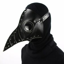 Steampunk Punk Plague Doctor Mask Bird Beak Black Gothic Halloween LARP Cosplay