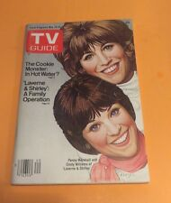 TV GUIDE MAY 19-25 1979 LAVERNE & SHIRLEY THE COOKIE MONSTER SESAME STREET