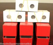 300 Assorted 2x2 Flips Mylar Cardboard Coin Holders + 3 Red Storage Boxes NEW