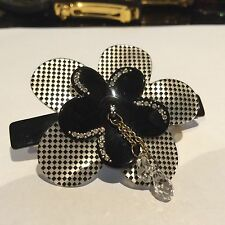 Rare Alexandre De Paris flower/crystal barrette