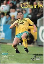 Football Programme. Norwich City v Arsenal, 5 May 1990. The Canaries