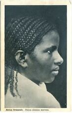 1936 Libia Africa Orientale Donna Abissina Maritata Colonie d. Cremona FP B/N VG