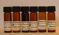 "6 ""Must Haves"" 100% Pure Essential Oils Basic Aromatherapy Set, Sleeping Dragons"