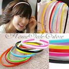 10pcs 4mm Plastic Candy Colors Teeth Headband Skinny Thin Hair Band Hairpin