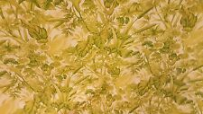 CRISP TROPICAL LIME GREEN WHITE LEAVES  FOLIAGE  OUTDOOR UPHOLSTERY FABRIC